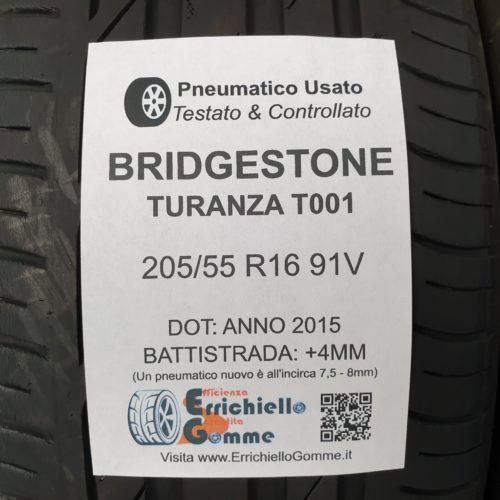205/55 R16 91V Bridgestone Turanza T001- 50% +4mm – Gomme Estive