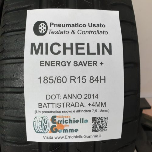 185/60 R15 84H Michelin Energy Saver+ – 50% +4mm – Gomme Estive
