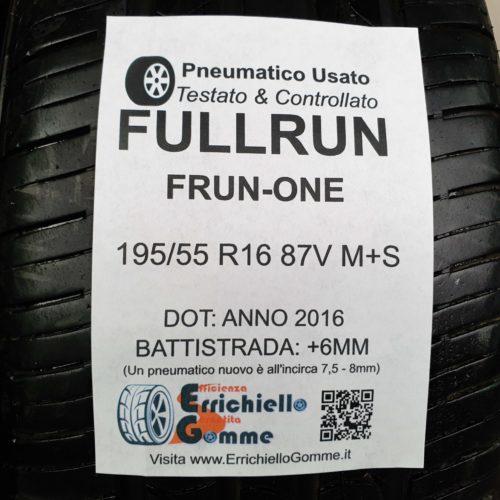 195/55 R16 87V M+S Fullrun Frun-One –  70% +6mm – Gomme 4 Stagioni