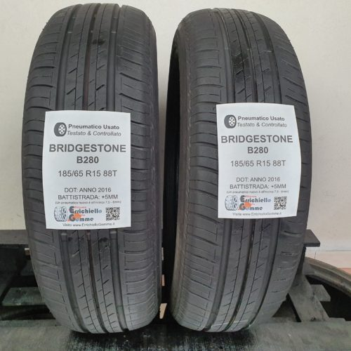 185/65 R15 88T Bridgestone B280 –  60% +5mm – Gomme Estive