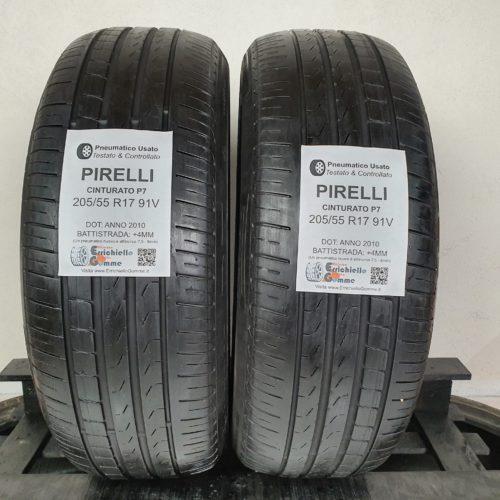 205/55 R17 91V Pirelli Cinturato P7 – 60% +5mm – Gomme Estive