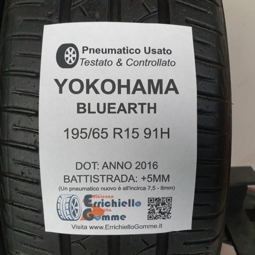 195/65 R15 91H Yokohama Bluearth – 60% +5mm – Gomme Estive
