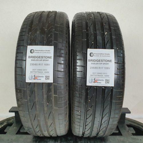 235/65 R17 108V Bridgestone Dueler H/P Sport – 70% +6mm – Gomme Estive