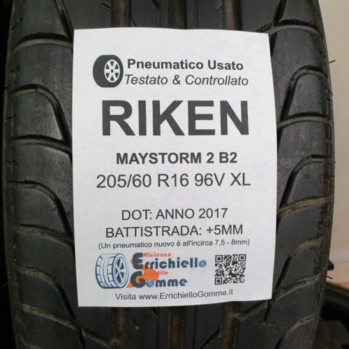 205/60 R16 96V XL Riken Maystorm 2 B2 – 60% +5mm – Gomme Estive
