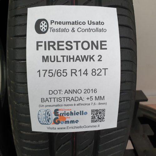 175/65 R14 82T Firestone MultiHawk 2 – 60% +5mm – Gomme Estive