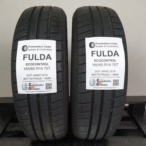 165/60 R14 75T Fulda EcoControl – 60% +5mm – Gomme Estive