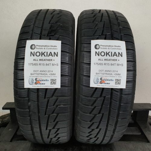 175/65 R15 84T M+S Nokian All Weather+ – 60% +5mm – Gomme 4 Stagioni