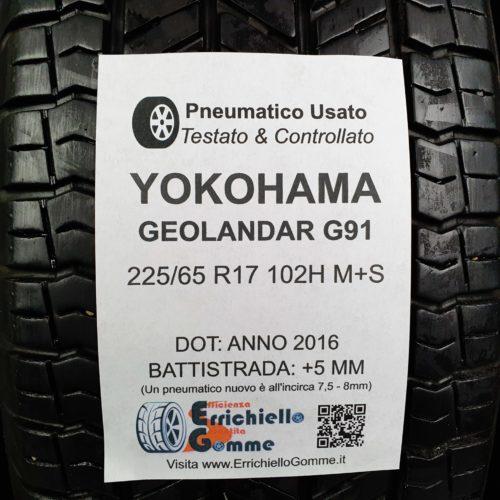 225/65 R17 102H M+S Yokohama Geolandar G91 – 60% +5mm – Gomme 4 Stagioni
