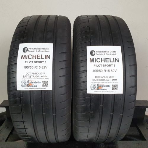 195/50 R15 82V Michelin Pilot Sport 3 – 50% +4mm – Gomme Estive