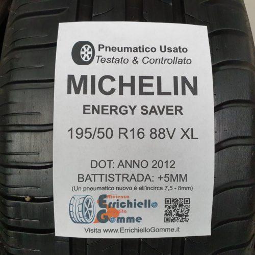 195/50 R16 88V XL Michelin Energy Saver – 60% +5mm Gomme Estive
