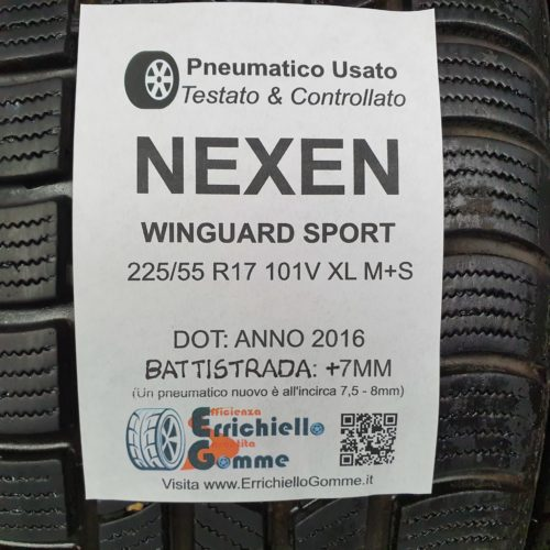 225/55 R17 101V XL M+S Nexen WinGuard Sport – 90% +7mm – Gomme Invernali