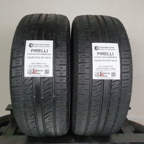 235/50 R18 97V M+S Pirelli Scorpion Zero Asimmetrico – 60% +5mm – Gomme 4 Stagioni