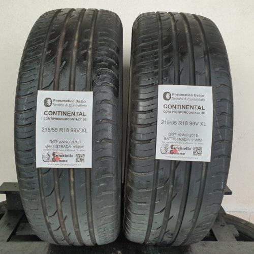 215/55 R18 99V XL Continental ContiPremiumContact 2E – 60% +5mm – Gomme Estive