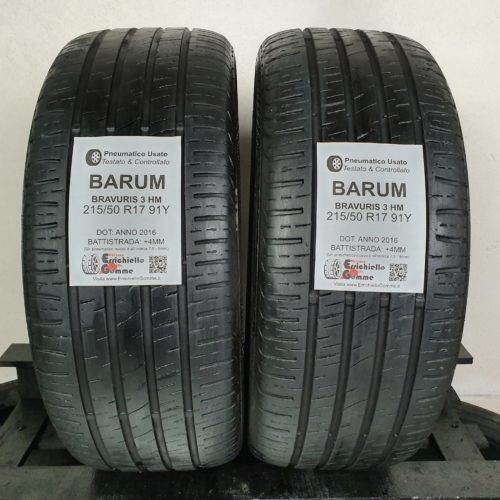 215/50 R17 91Y Barum Bravuris 3 HM – 50% +4mm – Gomme Estive