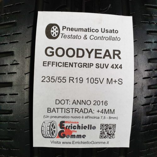235/55 R19 105V M+S Goodyear EfficientGrip SUV 4X4 -50% +4mm – Gomme 4 Stagioni
