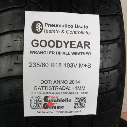 235/60 R18 103V M+S Goodyear Wrangler HP All Weather – 50% +4mm – Gomme 4 Stagioni