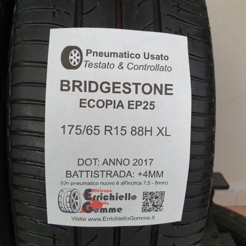 175/65 R15 88H XL Bridgestone Ecopia EP25 – 50% +4mm – Gomme Estive