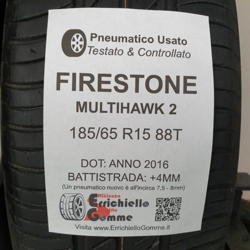 185/65 R15 88T Firestone MultiHawk 2 – 50% +4mm – Gomme Estive
