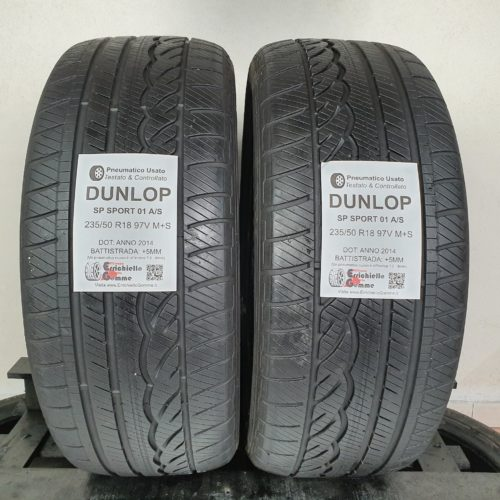 235/50 R18 97V M+S Dunlop SP Sport 01 A/S – 60% +5mm – Gomme 4 Stagioni