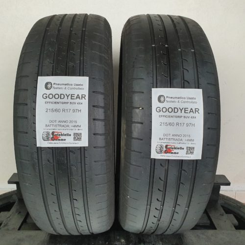 215/60 R17 97H Goodyear EfficientGrip SUV 4×4 – 50% +4mm – Gomme Estive
