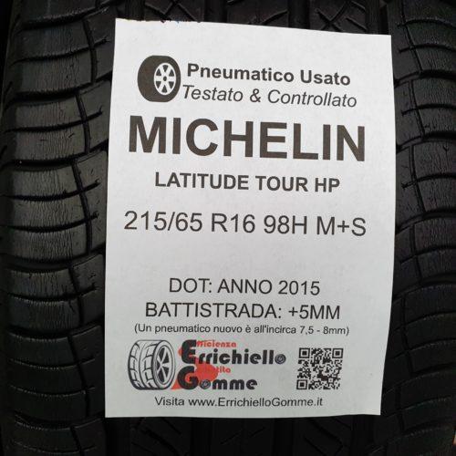 215/65 R16 98H M+S Michelin Latitude Tour HP –   60% +5mm – Gomme 4 Stagioni
