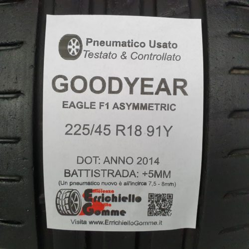225/45 R18 91Y Goodyear Eagle F1 Asymmetric –   60% +5mm – Gomme Estive