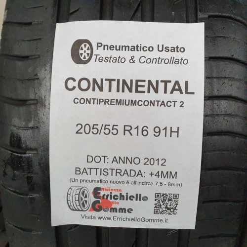 205/55 R16 91H Continental ContiPremiumContact 2 –   50% +4mm – Gomme Estive