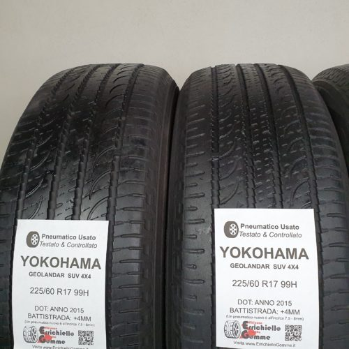 225/60 R17 99H Yokohama Geolandar SUV 4X4 –  60% +5mm – Gomme Estive