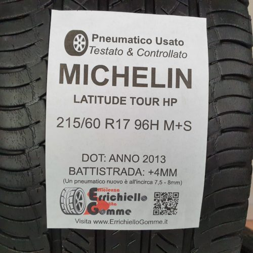 215/60 R17 96H Michelin Latitude Tour HP –  50% +4mm – Gomme Estive
