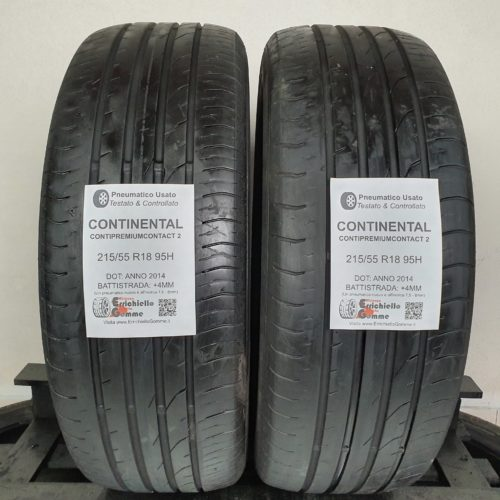 215/55 R18 95H Continental ContiPremiumContact 2 – 50% +4mm – Gomme Estive