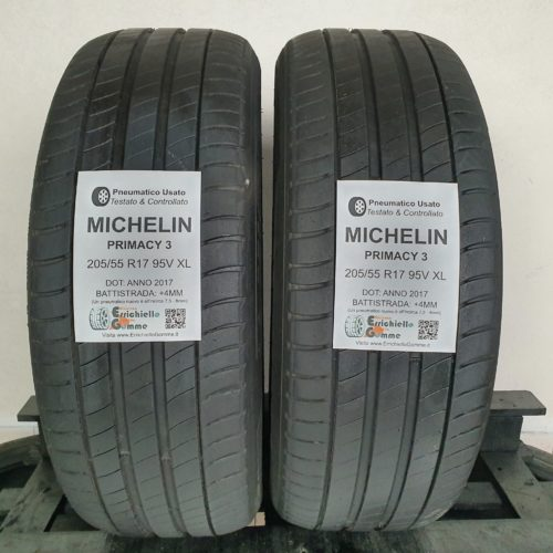 205/55 R17 95V XL Michelin Primacy 3 – 50% +4mm – Gomme Estive