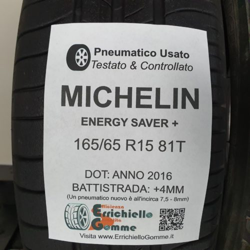 165/65 R15 81T Michelin Energy Saver+ – 50% +4mm – Gomme Estive