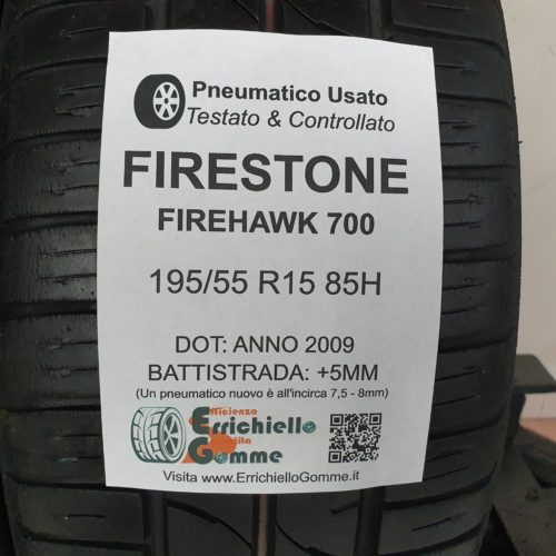 195/55 R15 85H Firestone Firehawk 700 – 60% +5mm – Gomme Estive