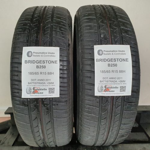 185/65 R15 88H Bridgestone B250 –  60% +5mm Gomme Estive