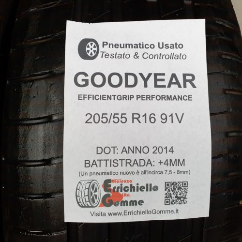 205/55 R16 91V Goodyear EfficientGrip Performance –  50% +4mm Gomme Estive