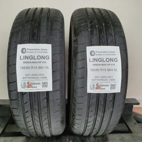 185/60 R15 88H XL LingLong Green-Max HP 010 – 60% +5mm – Gomme Estive