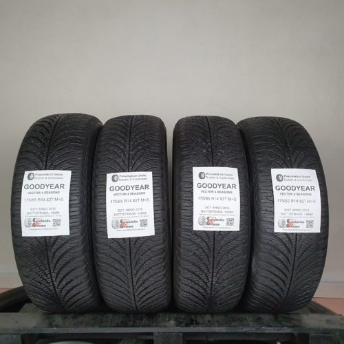 175/65 R14 82T M+S Goodyear Vector 4 Seasons – 60% +5mm – Gomme 4 Stagioni