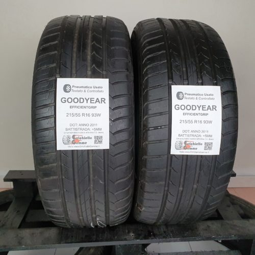 215/55 R16 93W Goodyear EfficientGrip – 60% +5mm – Gomme Estive