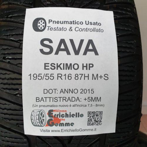 195/55 R16 87H M+S Sava Eskimo HP – 60% +5mm – Gomme Invernali