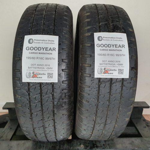 195/60 R16C 99H Goodyear Cargo Marathon – 5mm Gomme Estive Trasporto