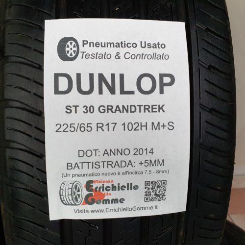 225/65 R17 102H M+S Dunlop ST30 GrandTrek –  60% +5mm – Gomme Estive