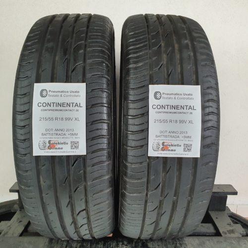 215/55 R18 99V XL Continental ContiPremiumContact 2E – 60% +5mm – Gomme Estive