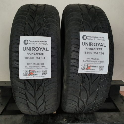 185/60 R14 82H Uniroyal RainExpert – 50% +4mm – Gomme Estive