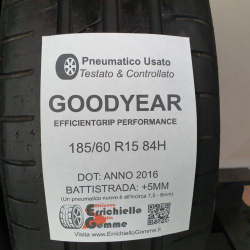 185/60 R15 84H Goodyear EfficientGrip Performance – 60% +5mm – Gomme Estive