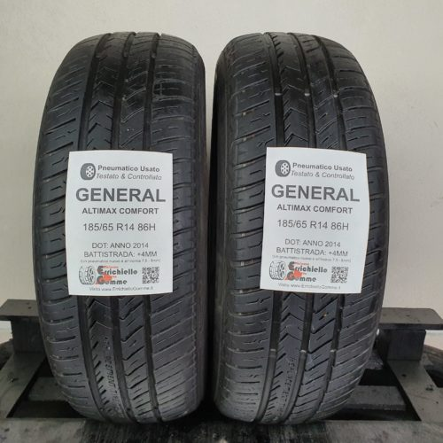 185/65 R14 86H General Altimax Comfort – 50% +4mm Gomme Estive