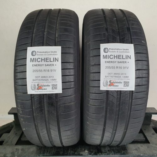 205/55 R16 91V Michelin Michelin Energy Saver+ –   50% +4mm – Gomme Estive