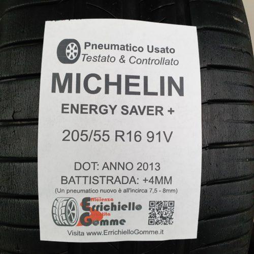 205/55 R16 91V Michelin Michelin Energy Saver+ –   50% +4mm – Gomme Estive