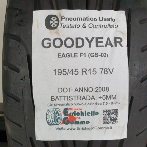 195/45 R15 78V Goodyear Eagle F1 (GS-03) – 60% +5mm – Gomma Estiva