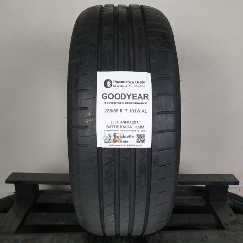 225/55 R17 101W XL Goodyear EfficientGrip Performance – 60% +5mm Gomma Estive