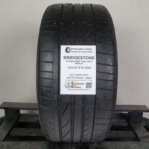 255/35 R18 90W Bridgestone Potenza RE050 1 (RSC) (RFT) Runflat – 60% +5mm – Gomma Estive
